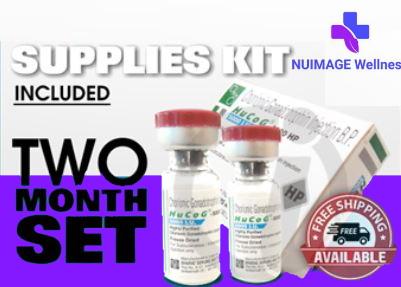2 Month HCG 5000 IU Incl. Mixing Supplies
